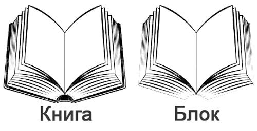 Блок в книге