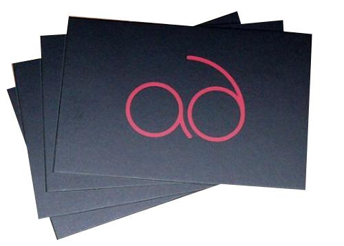 Матовая ламинация на визитках